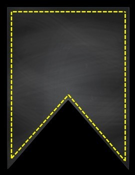 Chalkboard Dotted Line Banners