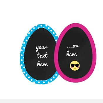 Chalkboard Easter Eggs Clipart - Studio Elska FREE