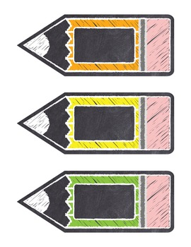 "Chalkboard Editable Classroom Labels Rainbow Colors ""Chalk It To Them"""