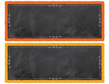 """Chalkboard Editable Desk Nameplates """"Chalk It To Them Collection"""""""