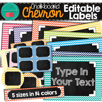 Chalkboard Editable Labels