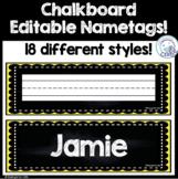 Chalkboard Editable Nametags