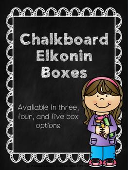 Chalkboard Elkonin Boxes