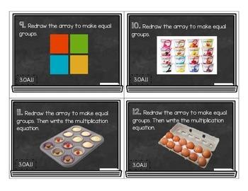 Chalkboard Equal Groups Task Cards