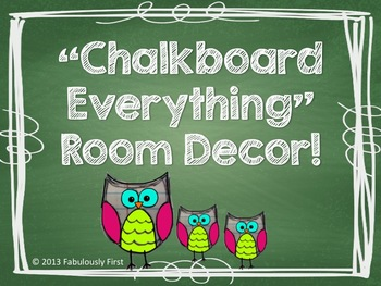 """Chalkboard Everything"" Room Decor"