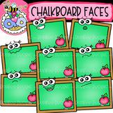 Chalkboard Faces: Back-to-School Clipart {DobiBee Designs}
