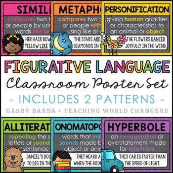 Chalkboard Figurative Language Posters