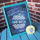 Chalkboard First Day of School Sign