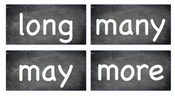 Chalkboard First Grade Sight Words
