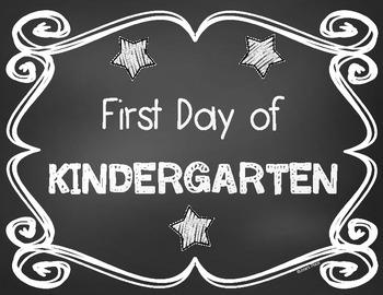 Chalkboard First and Last Day of School Signs B&W **FREEBIE**