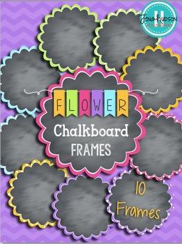 Chalkboard Flower Frames