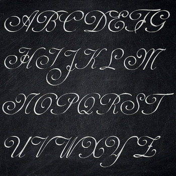 Chalkboard Alphabet, Chalk Letters, Chalkboard Font Clipart, Uppercase