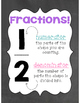 Chalkboard Fractions Posters