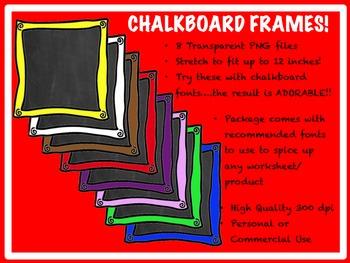 Chalkboard Frames!