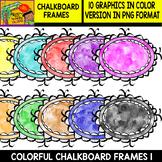 Frames - 10 Colorful Chalkboard Frames - Set #1