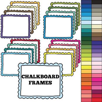 Chalkboard Frames 2 - Transparent Middle