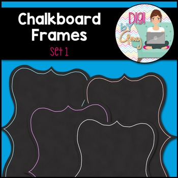 Chalkboard Frames and Borders clipart - Set 1