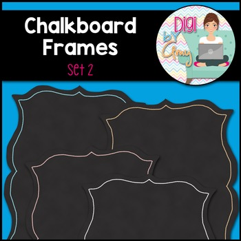 Chalkboard Frames and Borders clipart - Set 2