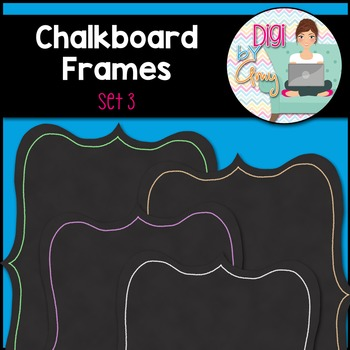 Chalkboard Frames and Borders  clipart - Set 3