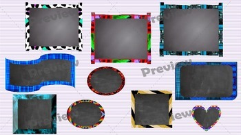 Chalkboard Frames and Digital Papers