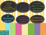 Chalkboard Frames with 32 Motivational quotes, Great Expectations Quotes