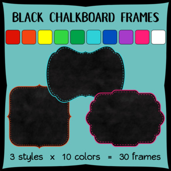 Chalkboard Frames with Stitched Borders