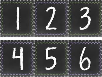 Chalkboard Free Number Line 0-120