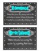 Chalkboard Genre Cards Supplement