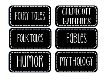 Chalkboard Genre Labels