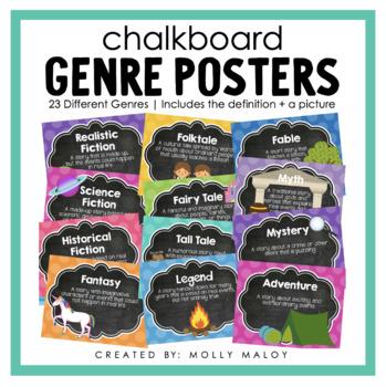 Chalkboard Genre Posters
