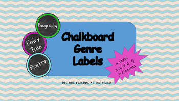 Chalkboard Genre Tags - 4 Sizes