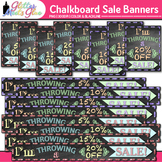 Chalkboard Sale Banners Clip Art | Design TPT Store Signs for Your Shop