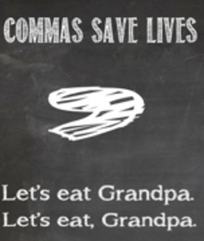 Chalkboard Grammar Posters for the Classroom