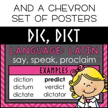 Chalkboard Greek & Latin Roots Posters
