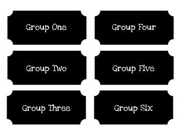 Chalkboard Group Labels
