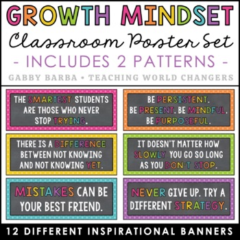Chalkboard Growth Mindset Posters