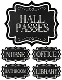 Chalkboard Themed Hall Pass Signs