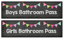 Chalkboard Hall Passes