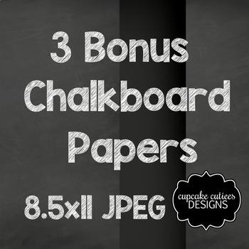 Chalkboard Halloween Digital Clip Art Set with Bonus Papers