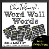 Chalkboard  High Frequency Word Wall Words * Editable *