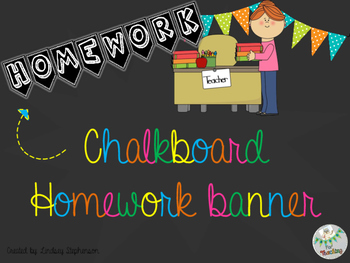 Chalkboard Homework Banner