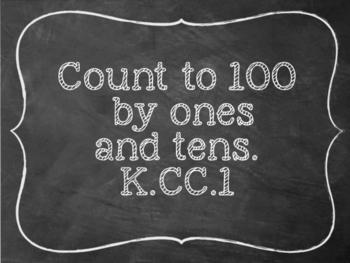 "Chalkboard ""I can"" statements kindergarten Math - preview"