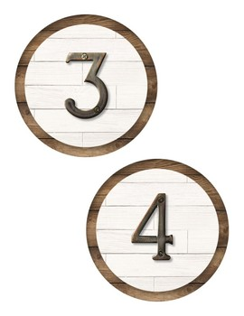Chalkboard Industrial Chic Farmhouse Classroom Decor NUMBER CIRCLES 1-30