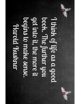 Chalkboard Inspirational Book Quotes