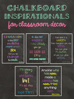 Chalkboard Inspirational Decor - posters