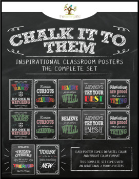 "Chalkboard Inspirational Posters *Complete Bundle* ""Chalk It To Them Collection"""