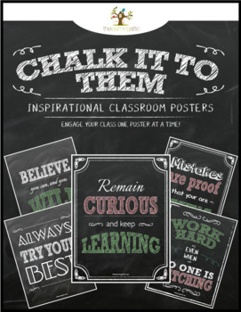 "Chalkboard Inspirational Posters in Pastel ""Chalk It To Them Collection"""