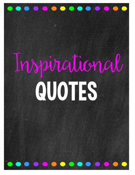 Chalkboard Inspirational Quotes