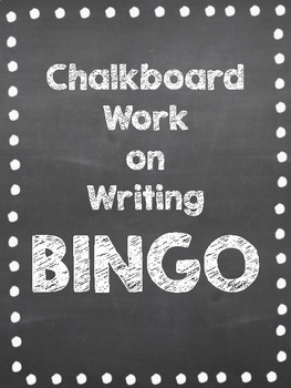 Chalkboard Interactive Bulletin Board: Writing Bingo