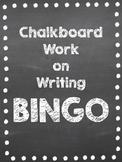 Chalkboard Interactive Bulletin Board: Writing Bingo